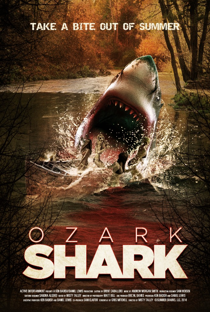 Ozark Shark Poster entertainment graphic design artist