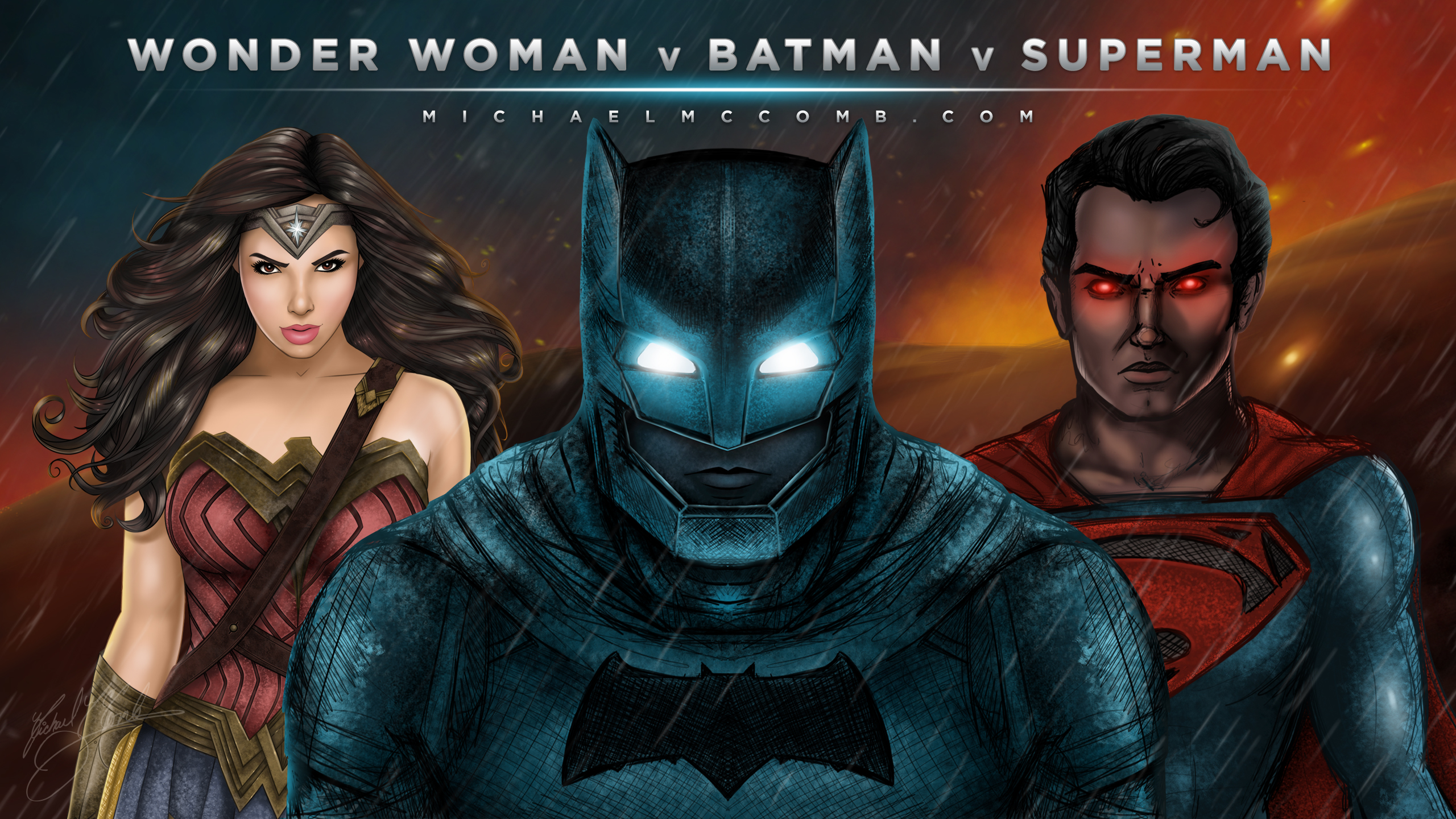 free wallpaper wonder woman v batman v superman michael mccomb