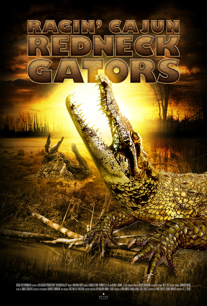 Ragin Cajun Redneck Gators Movie Poster entertainment graphic design artist